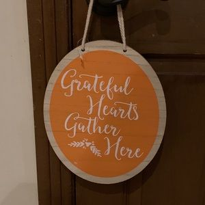 Wood Sign-Grateful Hearts Gather Here